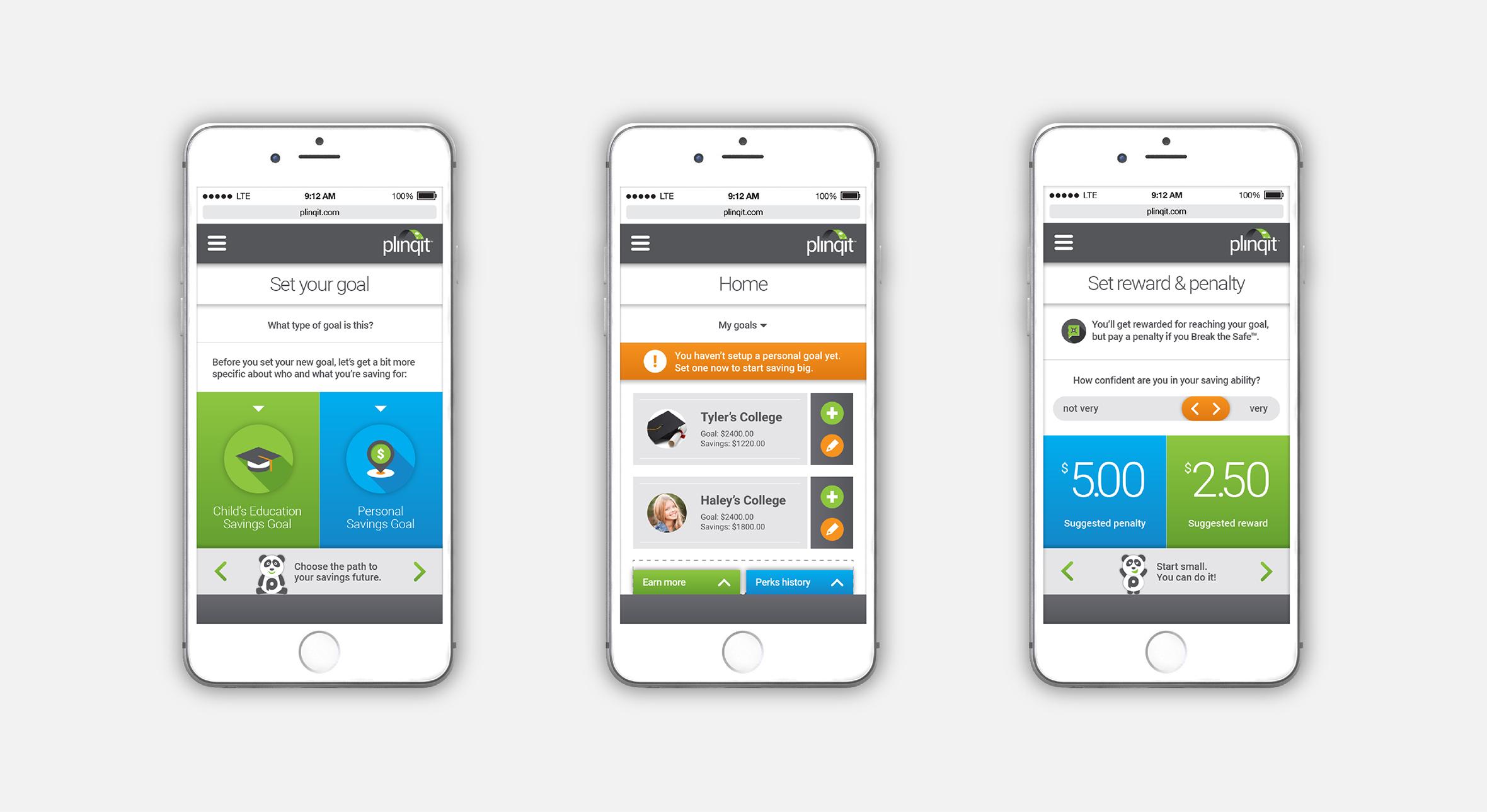 Plinqit App Screens